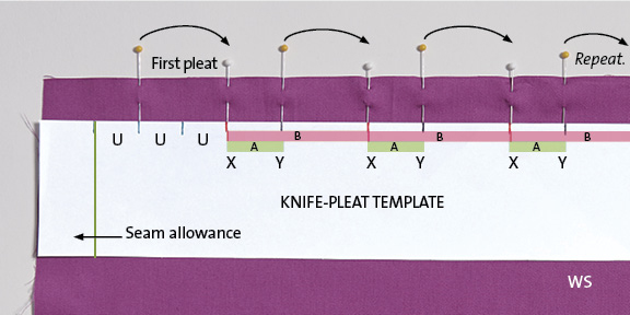 Video How To Mark And Fold Pleats For A Knife Or Box Pleat Skirt Threads